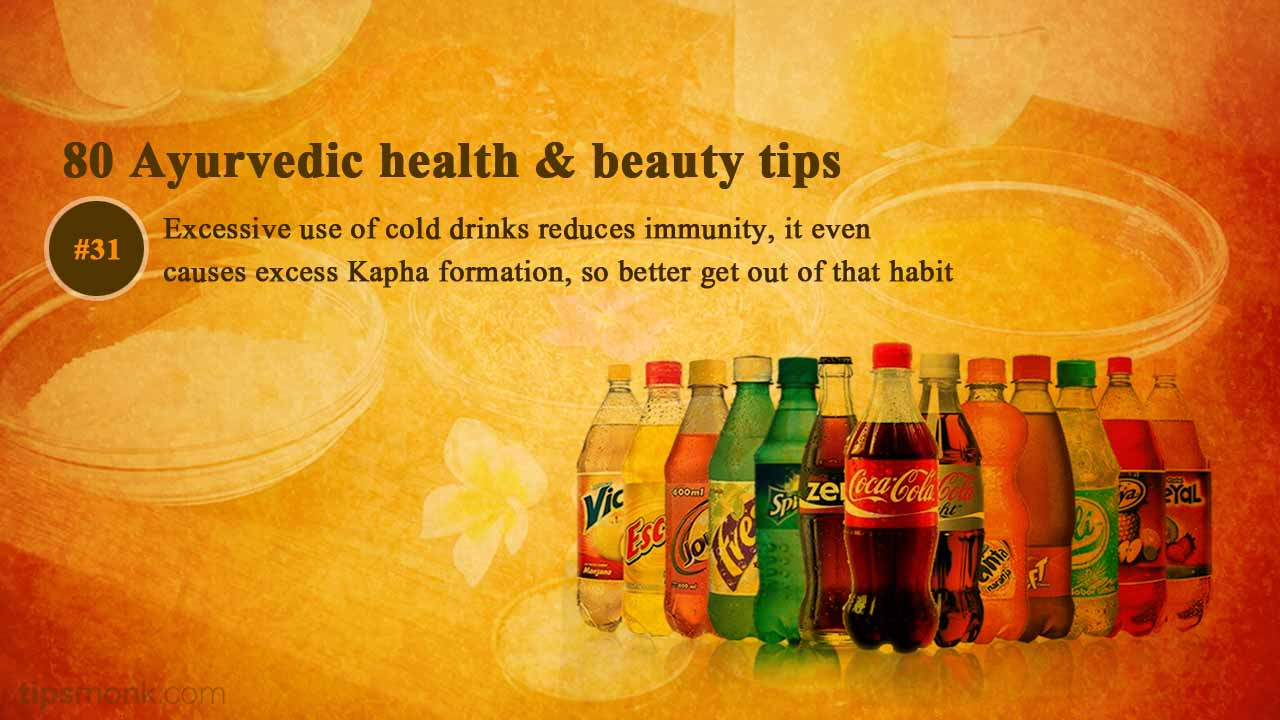 Ayurvedic health tips about cool drinks from Ayurveda books - Tipsmonk
