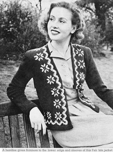 The Vintage Pattern Files: Free 1950's Knitting Pattern - Daisy Jacket