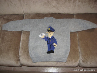Finally the Postman Pat sweater is finished