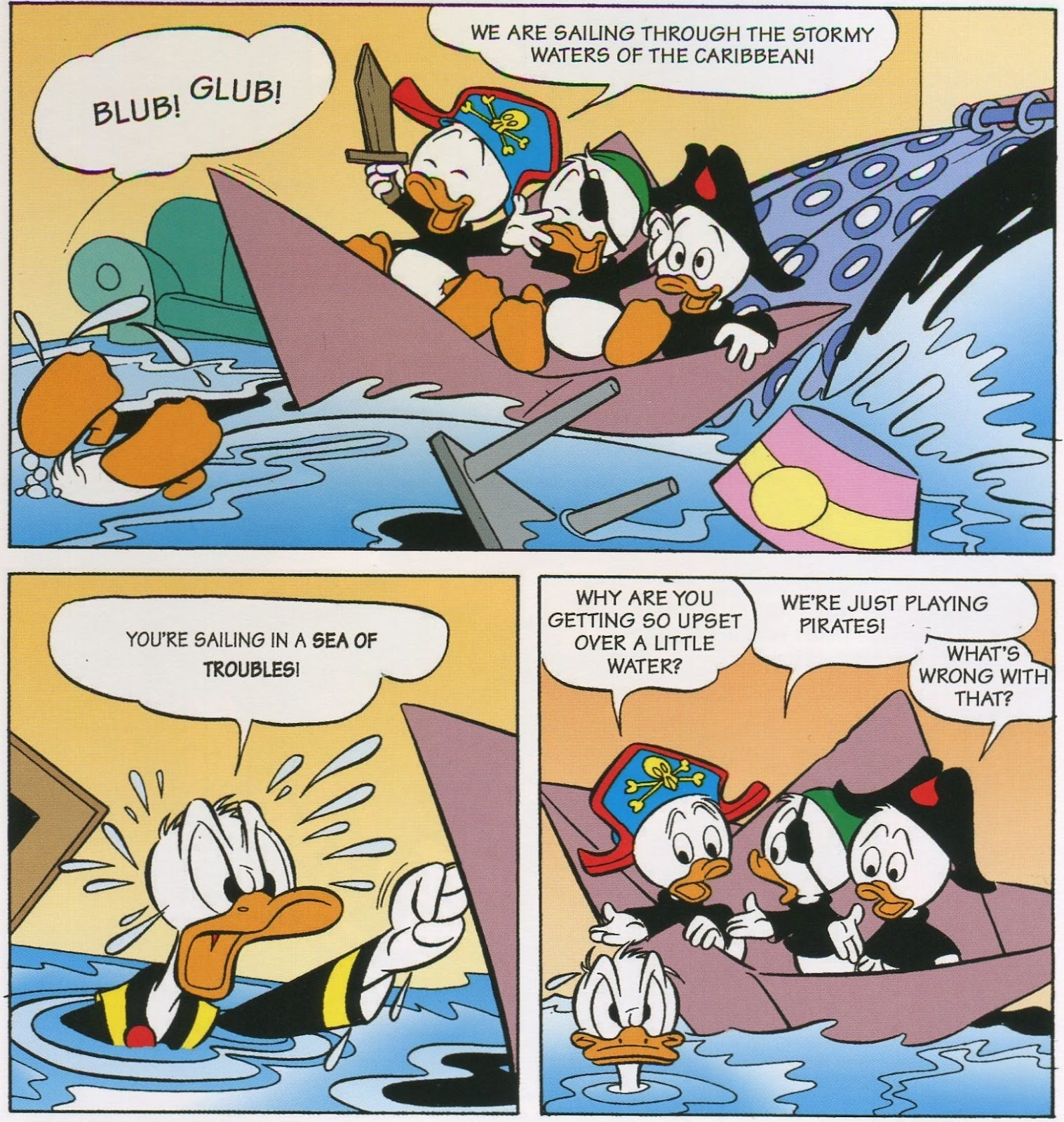 duck comics revue donald duck on treasure island. Black Bedroom Furniture Sets. Home Design Ideas
