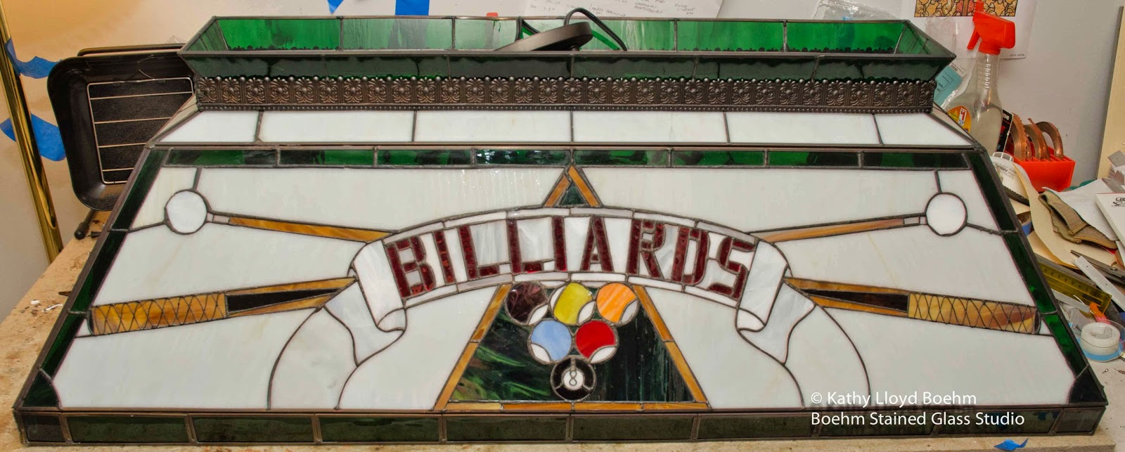 Boehm Stained Glass Blog: Repair Billiards Pool Table Lamp