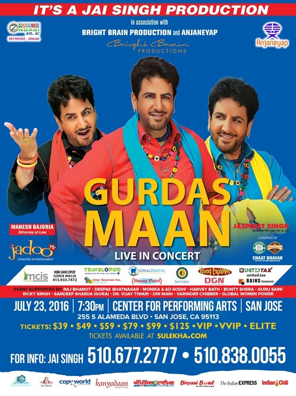 Gurdas Maan Live Concert in Bay Area