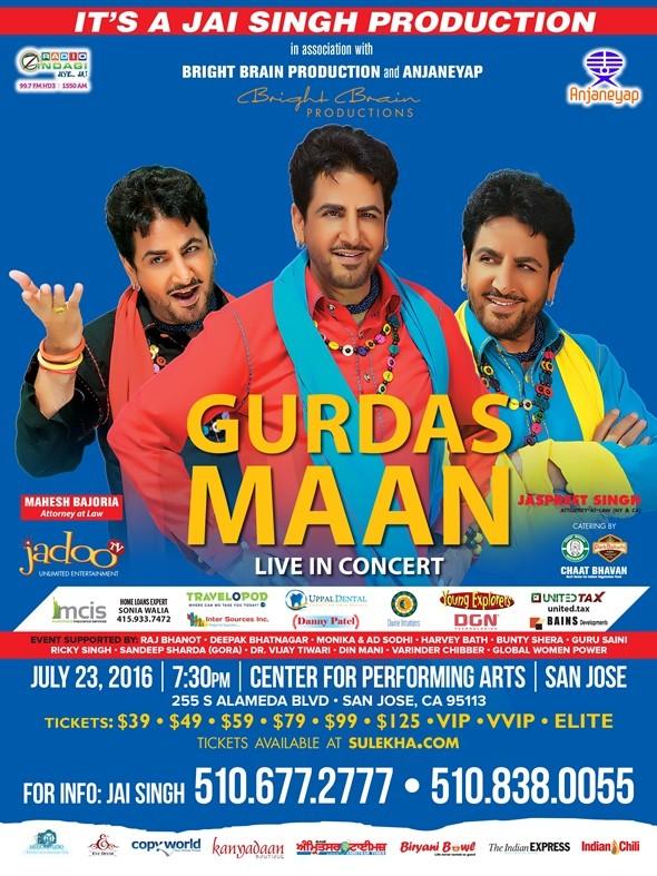 Gurdas Maan Live Concert in Bay Area