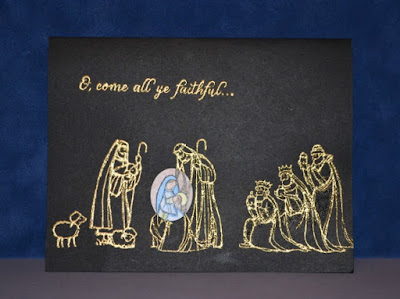 Stamp with Trude, Stampin Up, All Ye Faithful, Nativity, Christmas card, Tuesday Tutorial
