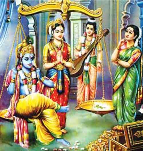 Story Involving Tulsi - Sage Narada - Krishna - Satyabhama
