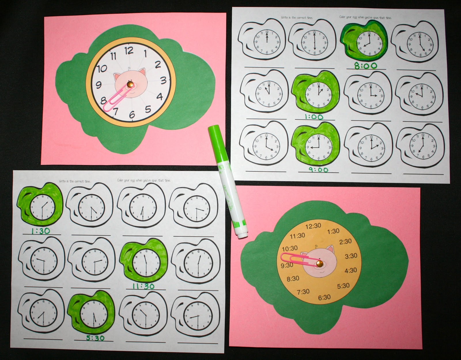 Seuss Green Eggs And Ham Telling Time Packet
