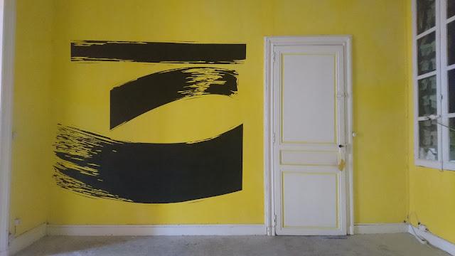 peinture sur mur interieur decoration jean baptiste besançon artiste bordeaux appartement