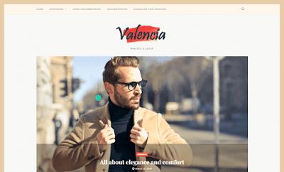 Valencia Beauty Blogger Template