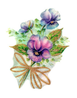 flower pansy image bouquet illustration