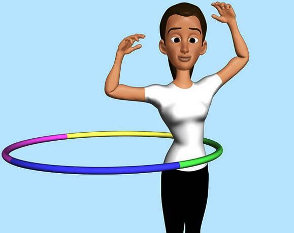 cara bermain dengan tubuh pelangsing Hula Hoop