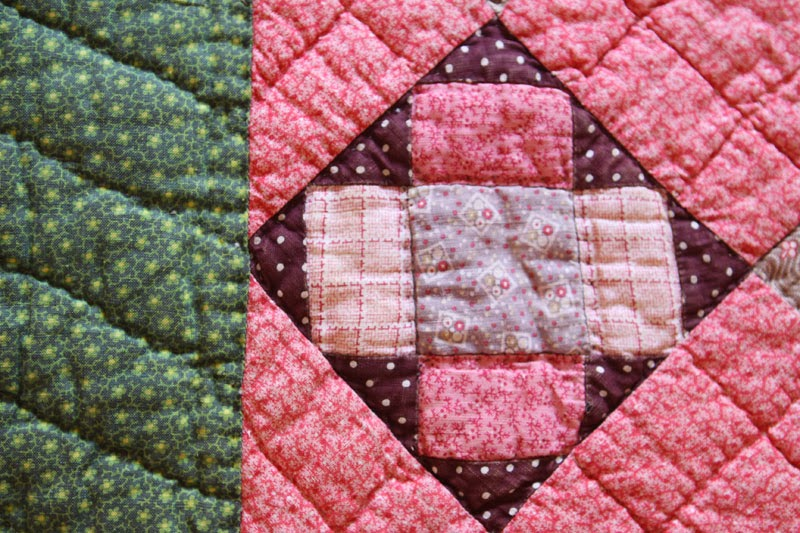 Detail antique quilt