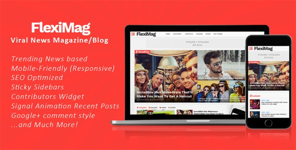 FlexiMag is the only magazine/blog template which can give you maximum clicks and keep visitors flooding back to your site.