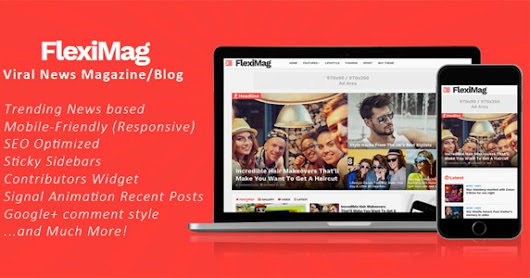 FlexiMag - Viral Blog / News Magazine Blogger Template