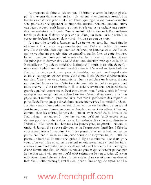 La Rabouilleuse ou un Ménage de Garçon en pdf d'Honoré de Balzac