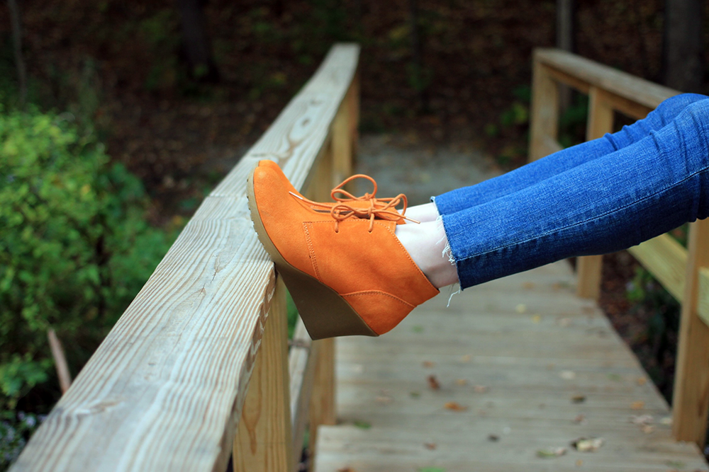 clementine wedge booties; boston blogger fall; new england style blogger; white mountain shoe collaboration;