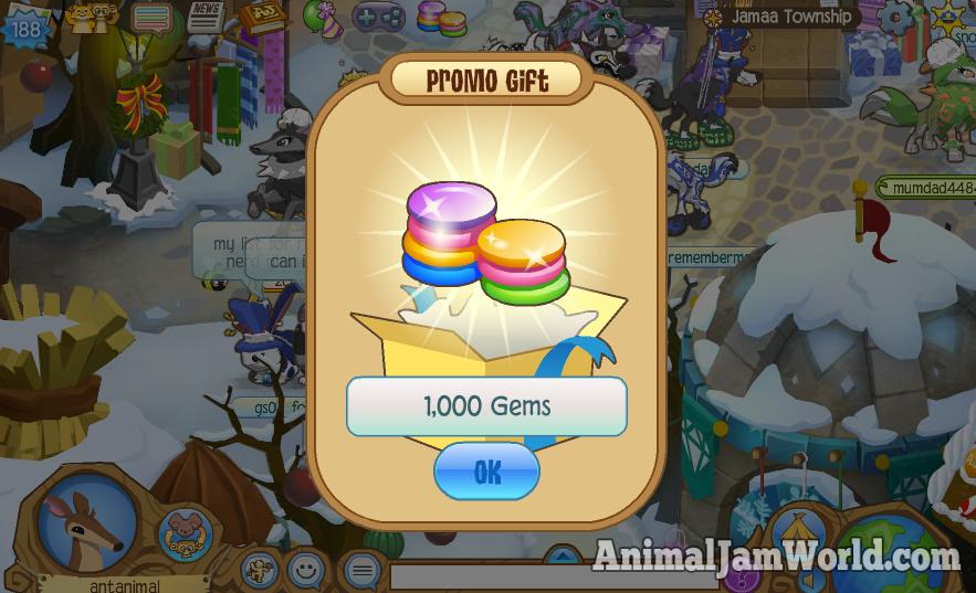 New Animal Jam 1000 Gem Code – January 2016