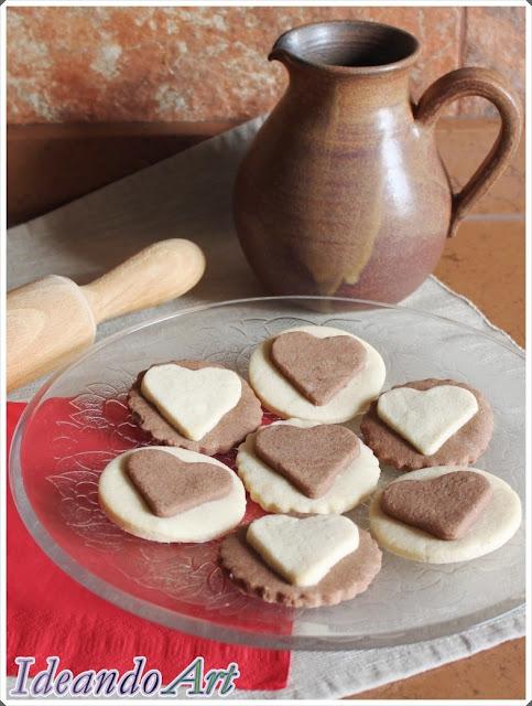 Galletas de chocolate y vainilla