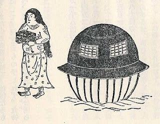 Utsuro-bune según Kyokutei Bakin