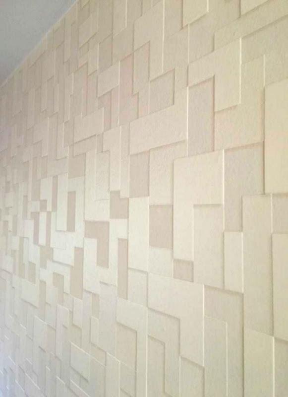 Master Bedroom Textured Wallpaper Accent Wall