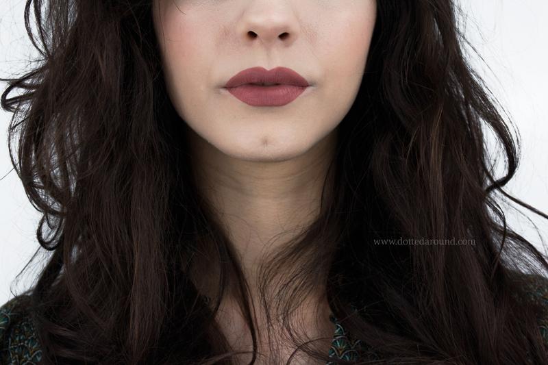 Kat Von D Lolita liquid Lipstick swatch
