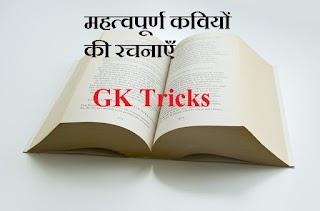 प्रमुख लेखक और उनकी रचनाएँ याद करने की GK Trick In Hindi - Hindi GK Tricks