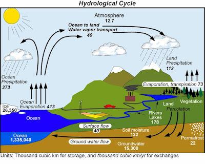 دراسة تؤكد أن الأرض قد تتفرد بالحياة في هذا الكون  Hydrocycle