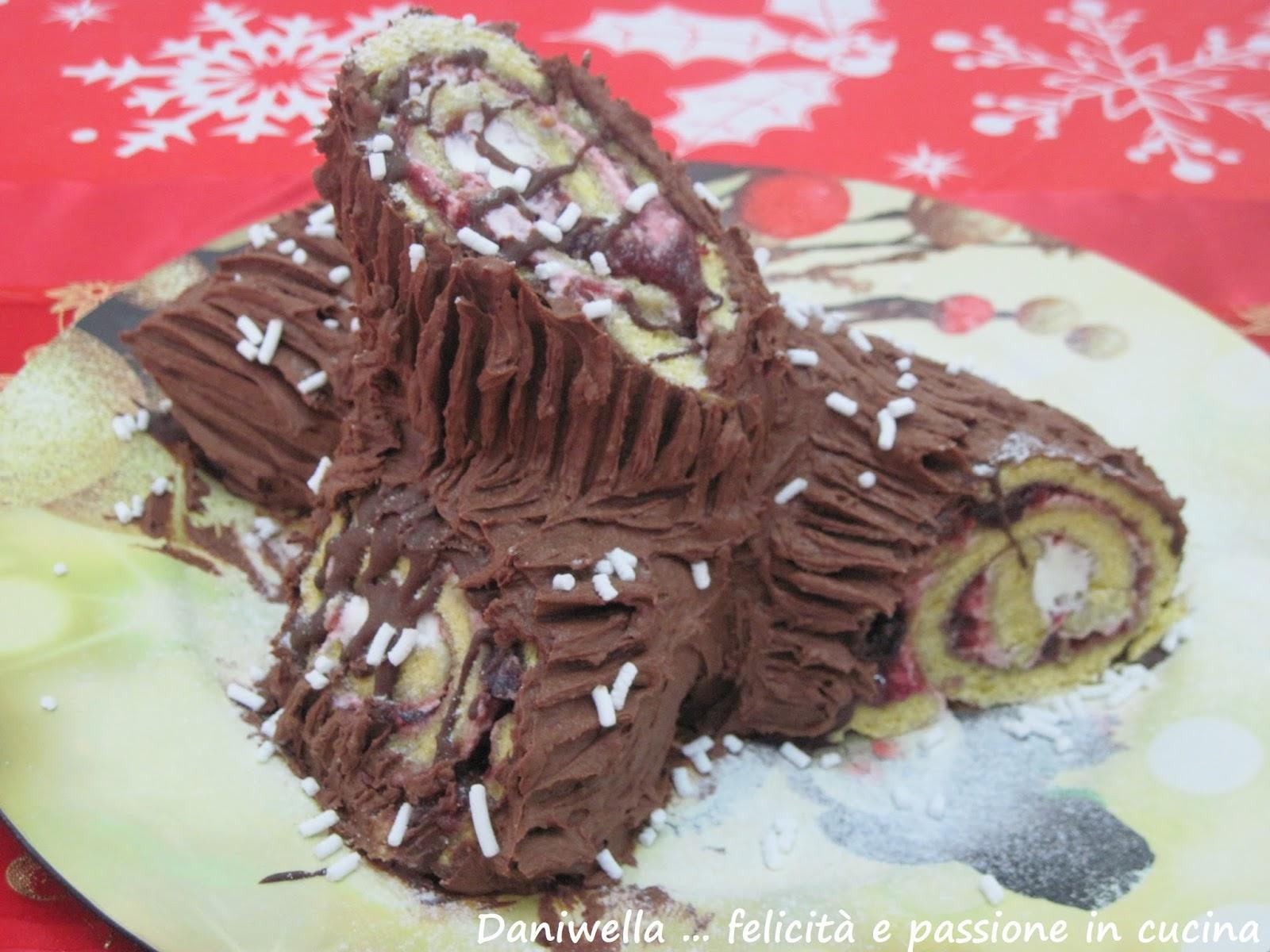 Ricetta Tronchetto Di Natale Per 10 Persone.Tronchetto Di Natale Buche De Noel Ricetta N 220 Daniwella