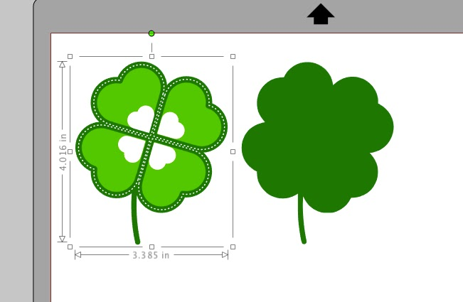 Free shamrock Silhouette Studio design cut file