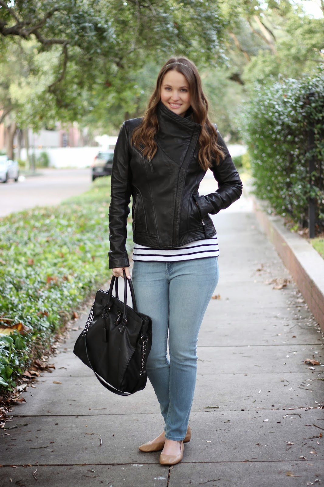 My Very Favorite Leather Jacket Kelly Elizabeth Style