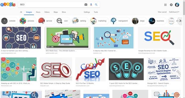 Nuevo diseño de escritorio de búsqueda de imágenes de Google