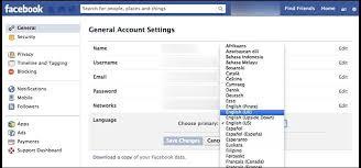 خطوات كيفية تغيير لغة الفيس بوك