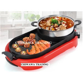 Lazada 12.12 Sales for High Quality BBQ STEAMBOAT 2 IN 1 BBQ Korean Electronic Hot Pot Pan Grill & Steamboat