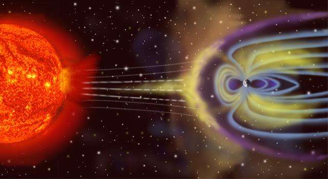 Campo magnético da Terra e tempestades solares - NASA