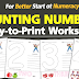 COUNTING MATERIALS (Spell, Color, Count) FREE!!