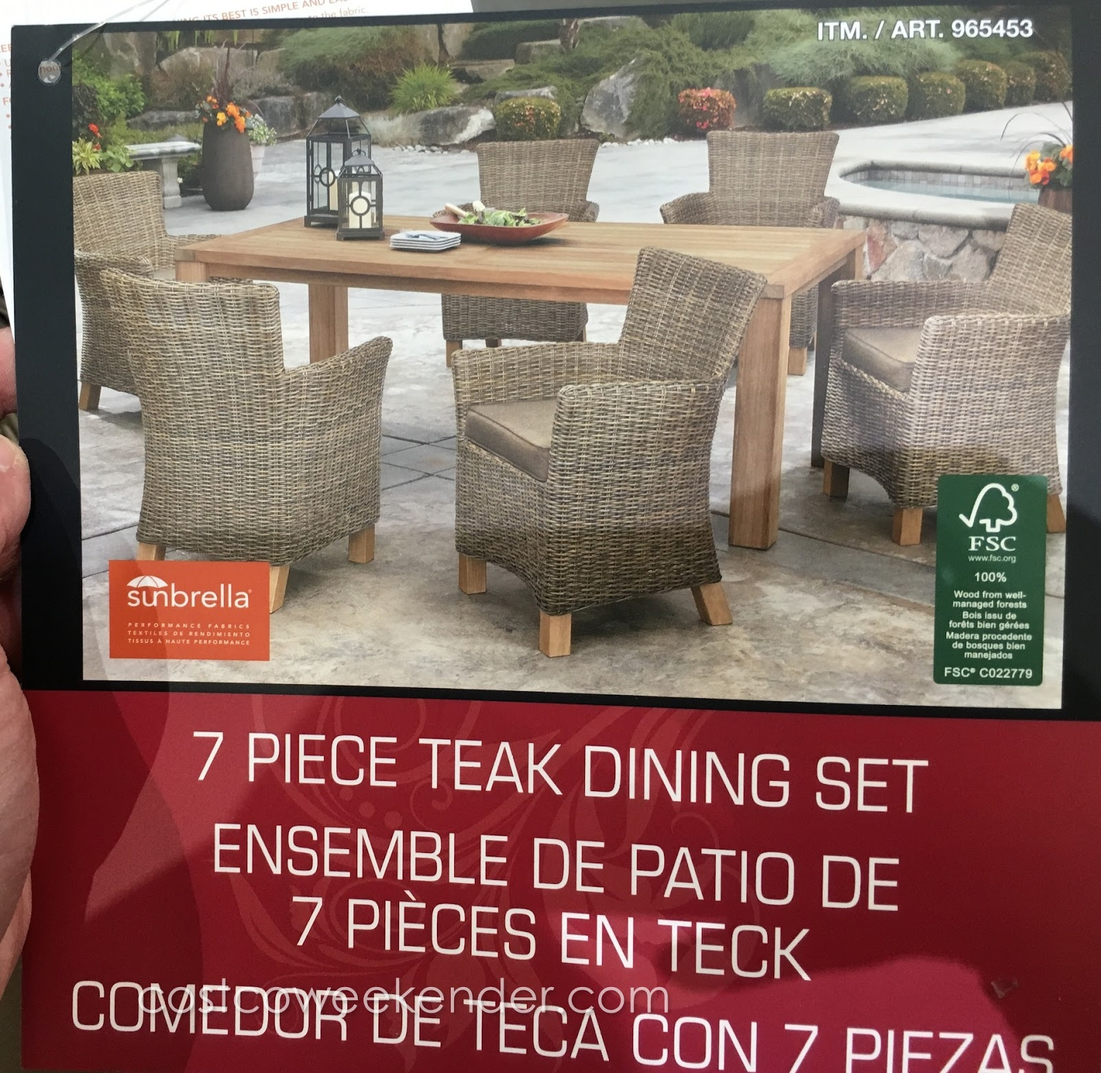 Lounge Around Outside Or Host A Bbq With The Sunbrella 7 Piece Teak Dining  Set