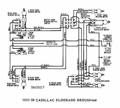 1975 cadillac wiring diagram schematic cadillac eldorado brougham 1957-1958 windows wiring ... #12