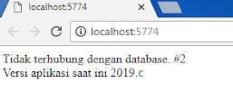 tidak terhubung dengan database
