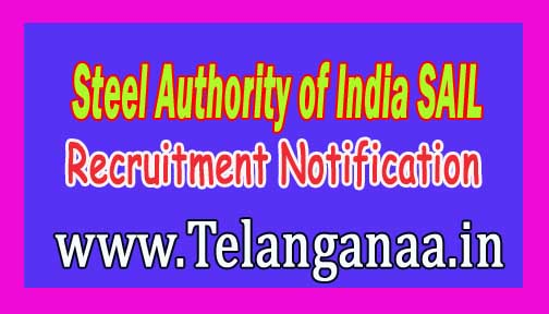 Steel Authority of India SAIL Recruitment Notification 2016