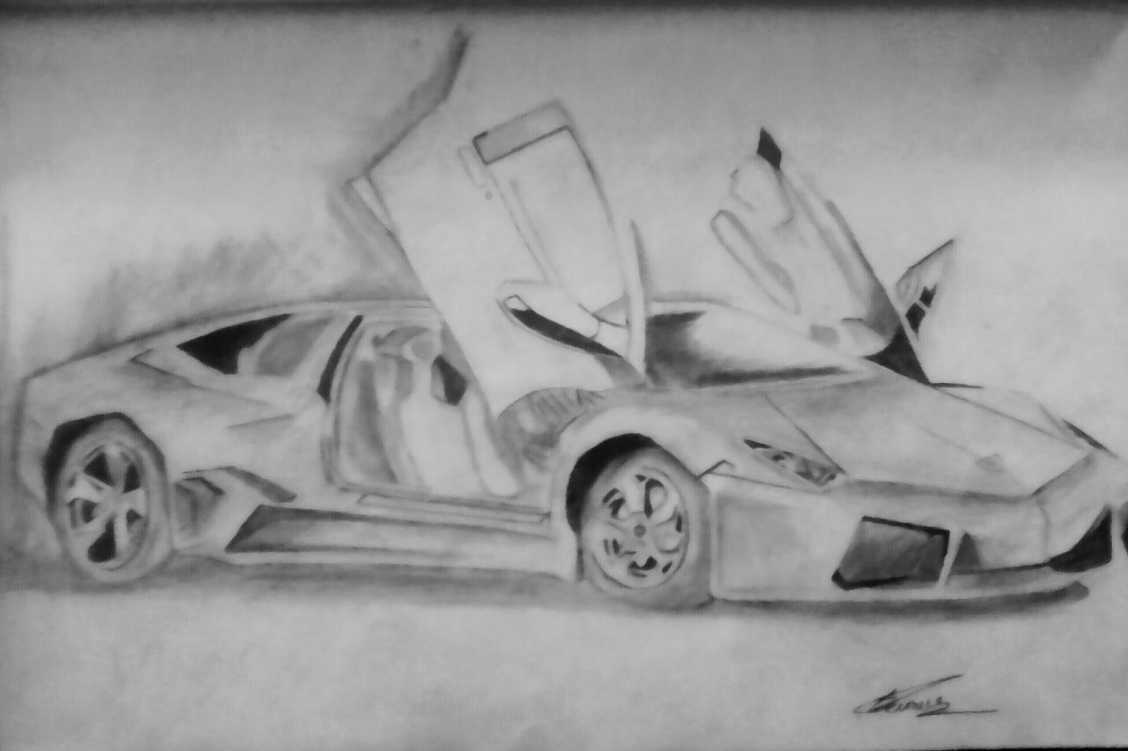 Sameer Pimplkar Drawing Lamborghini Sketch Pencil Drawing By Sameer