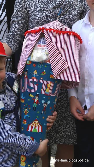 Zuckertüte zum Thema Zirkus selbst genäht