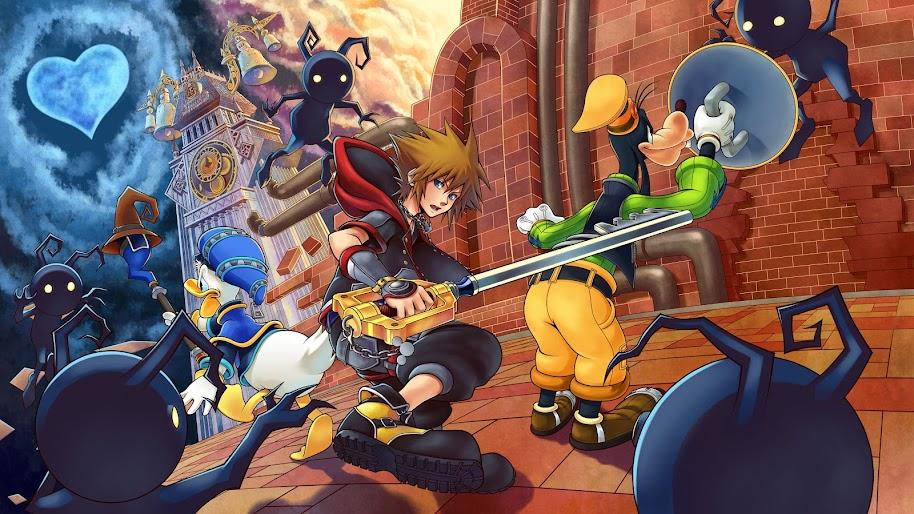 Sora, Goofy, Donald Duck, Kingdom Hearts 3, 8K, 7680x4320, #