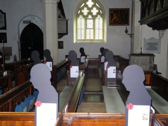 Silhouettes at St Mary's Church  Image by Mike Allen of the North Mymms History Project