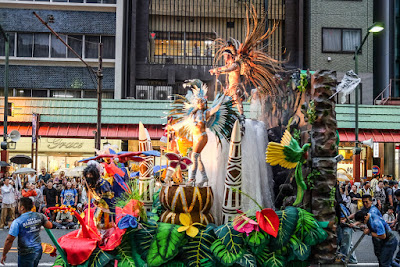 Decorated float the the 35th Asakusa Samba Carnival Contest, Asakusa, Tokyo, 2016.