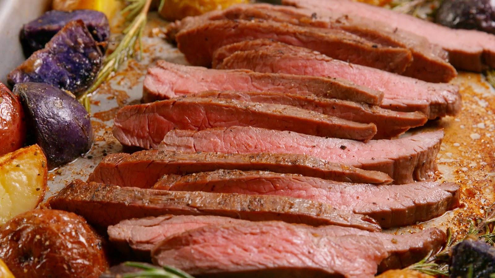 Sheet Pan Balsamic Steak & Potatoes
