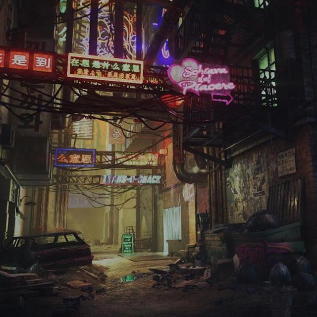 Cyberpunk Noir Suburban Wallpaper Engine