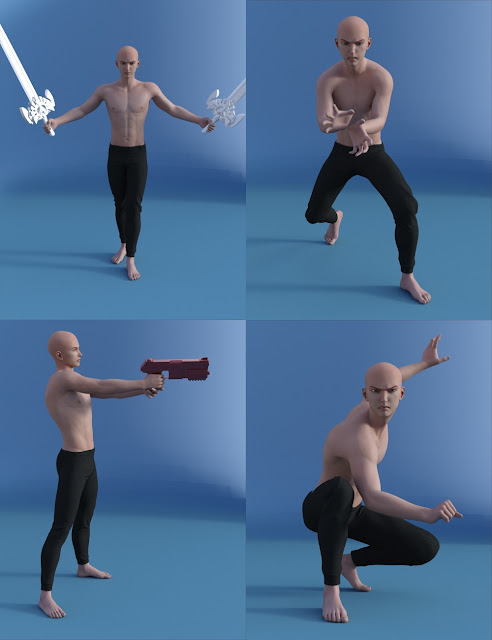 Kenji 7 Ultimate Action Poses