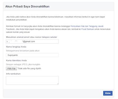 Cara Mengatasi Akun Facebook yang Dinonaktifkan Terbaru