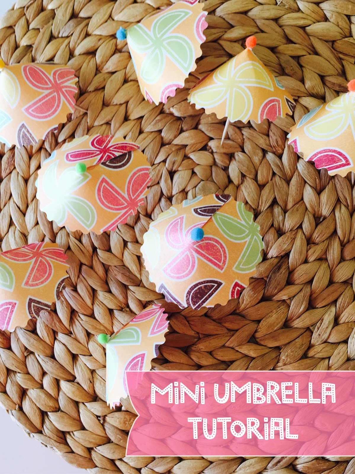 mini paper umbrella tutorial, Lou Lou Girls, Bears on the beach cups-The Style Sisters