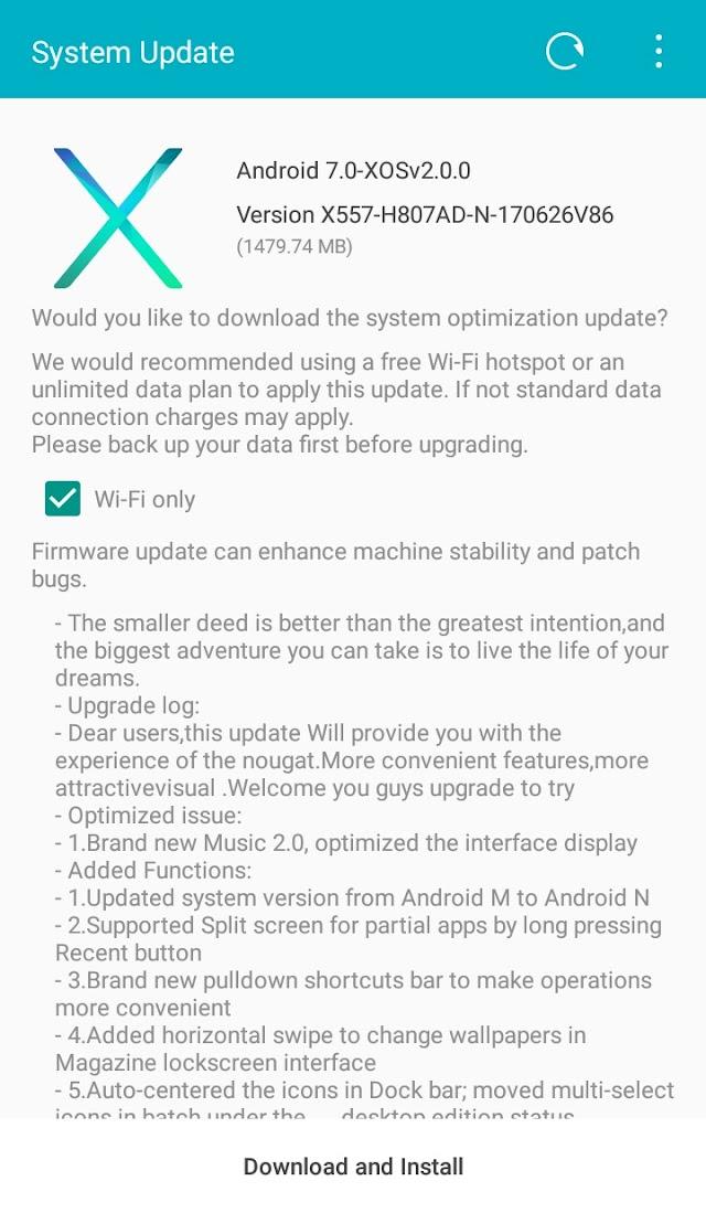 Infinix Hot 4 X557 Recieve Android 7.0 Nougat Via OTA