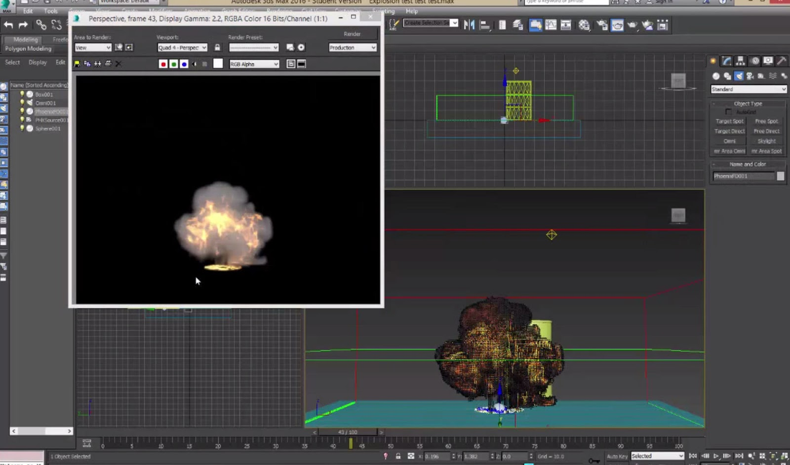 Phoenix FD for 3ds Max basic tutorial: Creating an explosion
